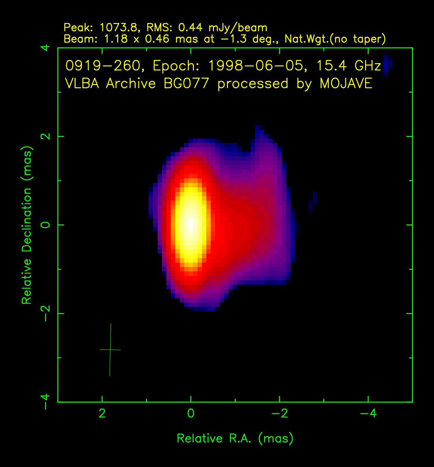 2 cm VLBA Image