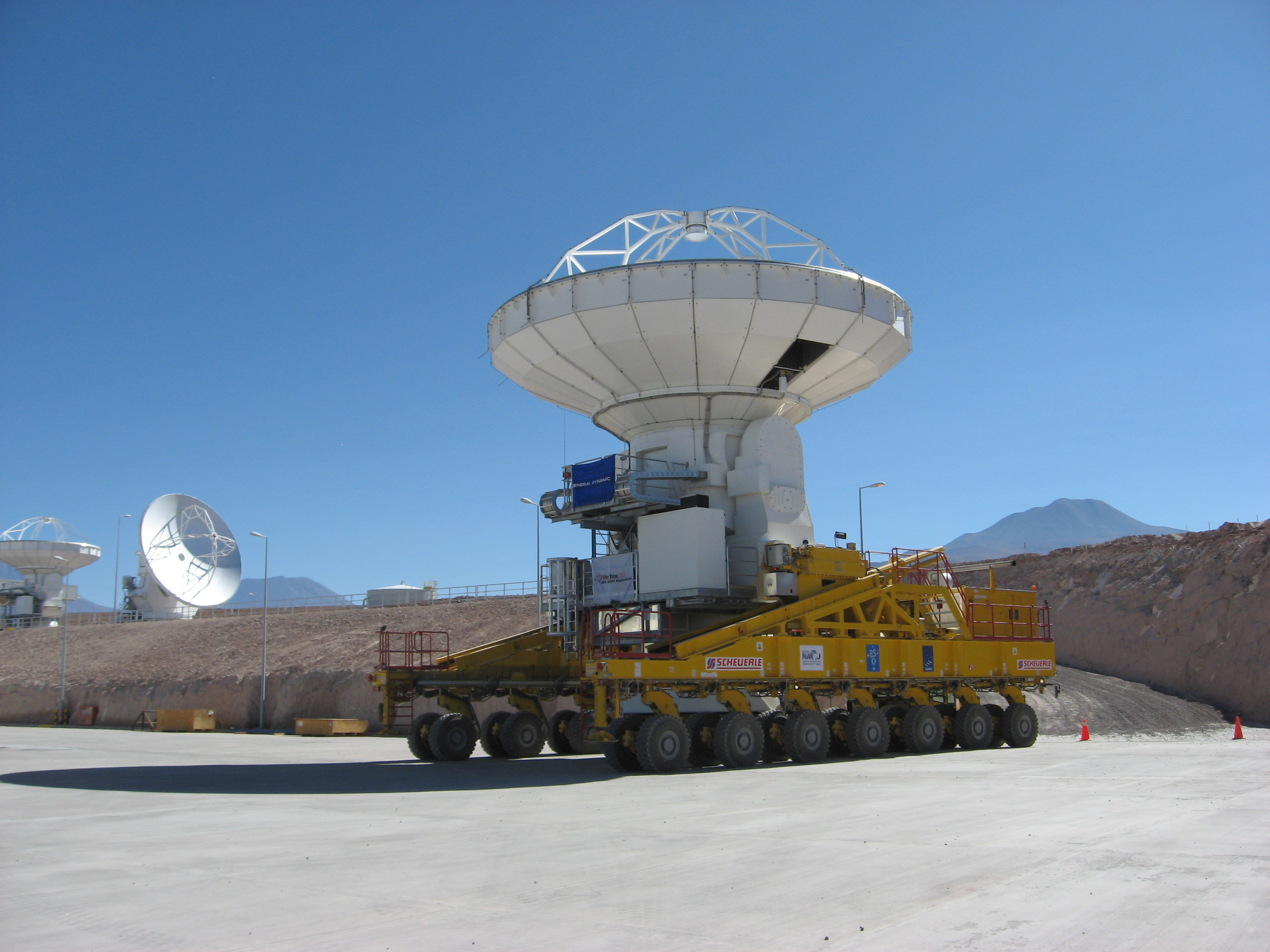 Vertex Antenna No 1 after ALMA acceptance